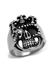 Unique Gift Mens Ring Boys Punk Animal 316L Stainless Steel Ring Wholesale Jewelry