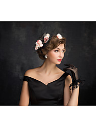 Women's Lace Tulle Flax Net Headpiece-Special Occasion Fascinators 1 Piece