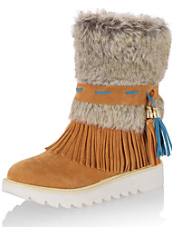 Women's Boots Fall / Winter Snow Boots / Fashion Boots / Round Toe /Office & Career / Dress / Casual Fur / Tassel