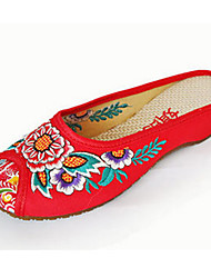 Women's Shoes Canvas Spring / Summer / Fall Slingback / Comfort / Flats Flats Casual Flat Heel Flower Black /