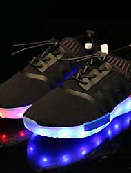 Para Meninos-Tênis-Light Up Shoes-Rasteiro-Preto Vermelho-Tecido-Casual