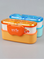 Japanese Style Microwave Safe Bento Box Double Layer