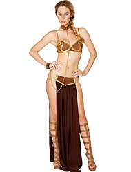 Cosplay Costumes Fairytale Goddess Egyptian Costumes Movie Cosplay Brown Top Skirt Tie Halloween Christmas New Year Female Polyester
