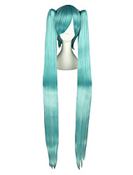 Cosplay Wigs Vocaloid Mikuo Blue Extra Long / Straight Anime Cosplay Wigs 120 CM Heat Resistant Fiber Male / Female