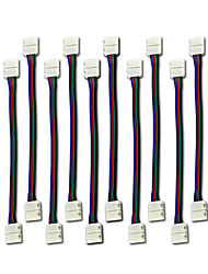 10PCS LED 5050 RGB Strip Light Connector 4 Conductor 10 mm Wide Strip to Strip Jumper