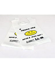 Smiley Vest Bag Supermarket Shopping Bag Plastic Bag 100/Bag