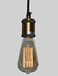 Max 60W Traditional/Classic / Vintage Mini Style / Bulb Included Electroplated Pendant LightsLiving Room / Bedroom / Dining Room /