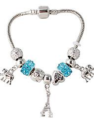 Strand Bracelets 1pc,White / Blue / Pink Bracelet Fashionable Circle 514 Alloy Jewellery