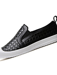 Men's Loafers & Slip-Ons Spring / Summer Comfort PU Casual Slip-on Black / Blue / White Walking