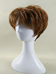 Modern Lady's Wig Brown Short Curly Synthetic Wigs with Heat Resistant fiber Wig  American African Wig
