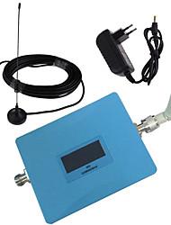 écran lcd gsm 900MHz téléphone mobile amplificateur de puissance signal de répéteur avec fouet et sucker antennes bleues