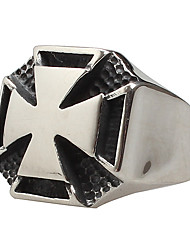 Men's Titanium Steel Ring The Cross Silver Party / Daily / Casual 1pc Statement Rings
