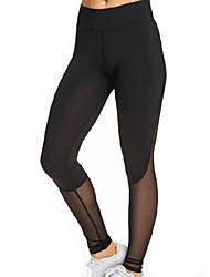 Femme Couleur Pleine Croisé Legging,Polyester Maille