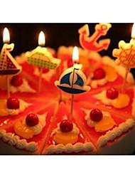 Acessórios do partido Velas Aniversário Tema Clássico Other Não-Personalizado Material Amigo do Ambiente Multicolorido 1Peça/Conjunto