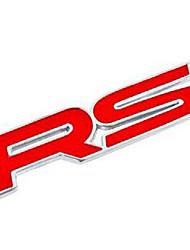 automobile stickers décoratifs, rs métalliques coller, 3d