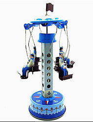 Neuheit-Spielzeug / Puzzle Spielzeug / Aufziehbare Spielsachen Neuheit-Spielzeug / / Merry-go-round Metall Blau Für Kinder