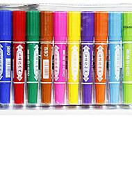 12 cor carregada de casal grande marca de óleo de caneta marca de caneta headed