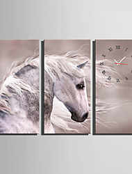 E-HOME® A Horse Clock in Canvas 3pcs