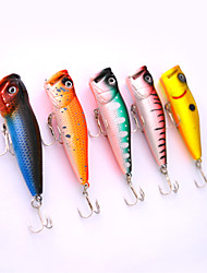 5pcs Hard Bait Orange / Watermelon / yellow shad / glass green / Blue 30 g/1/10 oz. Ounce,70 mm/2-11/16""