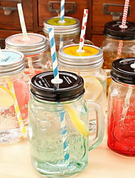 Gradient Mason Jars Transparent Glass (Random Style)