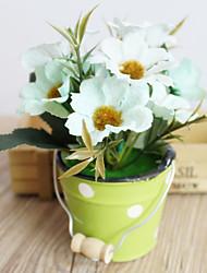 1pc 1 Ramo Poliéster / Plástico Sakura Flor de Mesa Flores artificiais 6.2inch/16CM