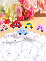 fête bougies décoration d'anniversaire set (5 pièces) voitures mignonnes petites bougies