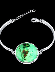 Women's Charm Bracelet Bangles Bracelet Silver Plated Alloy Fashion Silver Jewelry 1pc