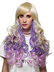 The golden gradient long roll straight, European and American fashion wigs