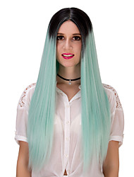 Black green gradient long hair wig.WIG LOLITA, Halloween Wig, color wig, fashion wig, natural wig, COSPLAY wig.
