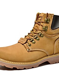 Men's Boots Spring / Fall / Winter Combat Boots Nappa Leather Outdoor / Athletic / Heel Yellow / Taupe Sneaker