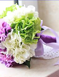1 Une succursale Polyester Plastique Hortensias Fleur de Table Fleurs artificielles 64(21.5'')