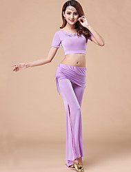 Belly Dance Outfits Women's Training Modal Draped 2 Pieces Black / Fuchsia / Light Purple / Purple / Dark Blue No Belt