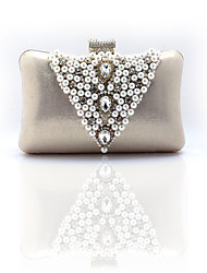 Women Satin Formal /Artificial Pearl/With  Regal Chinese Dress Bag/ Casual / Event/Party / Wedding Clutch / Evening Bag