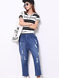 Women's Blue Jeans / Harem Pants,Simple
