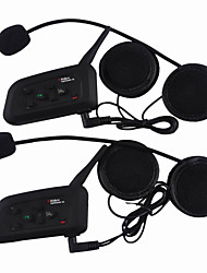 Vnetphone V4 2 Pcs 1200 Meters Motorcycle Helmet Bluetooth Interphone 4 People Talk Back Support Real-Time Automatic Answer + FM