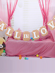 The new fall in love's  Lahua birthday party decorative props