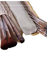 12 Conjuntos de pincel Escova de Cabelo de Cabra Portátil Plastic Rosto ShangYang