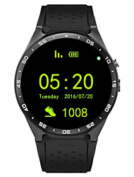 Smartwatch 3g kingwear 1,39 w8 '' AMOLED-400 * 400 Smart Watch 3g 2.0MP Kamera Pedometer Herzfrequenz Aufruf