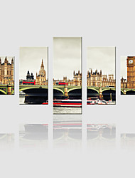 JAMMORY Canvas Set Landscape ,Five Panels Gallery Wrapped, Ready To Hang Vertical Print No Frame European Construction