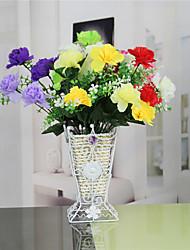 1 1 Ramo Plástico Cravo Flor de Mesa Flores artificiais 12.4inch/31.5cm