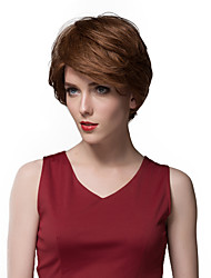 Elegant  Ultrashort Straight Human Hair Wigs For Women