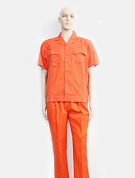 Cotton Short-Sleeved Overalls Suit Overalls Summer Short-Sleeved Thin Sand Ramp Tooling (Sold Orange)