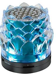 les haut-parleurs de cartes buddha lotus cristal flash sonore extérieur car audio portable