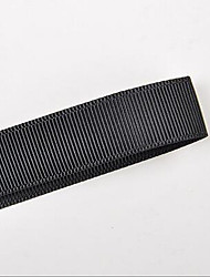 reines Polyester Ripsband schwarz und weiß 9mm 100 Yards / Rolle