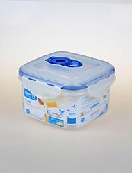 quadrado forma de microondas recipiente de alimento plástico com fechadura