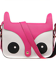 Women  Leather Casual  Outdoor Cartoon Fox Diagonal Shopping Shoulder Bag