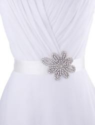 Satin Wedding / Party/ Evening / Dailywear Sash - Beading / Rhinestone Women's Sashes