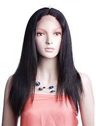 100% humano cabelo virgem 10-26 polegadas cor natural natural peruca completa reta indiano do laço com cabelo do bebê