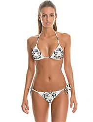 FuLang  Bikinis Set   Beach swimsuit    fashion    personality   sexy  backless White Tiger Print   SC049