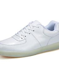 Herrenschuhe-Lässig-Sneaker-PU-Weiß